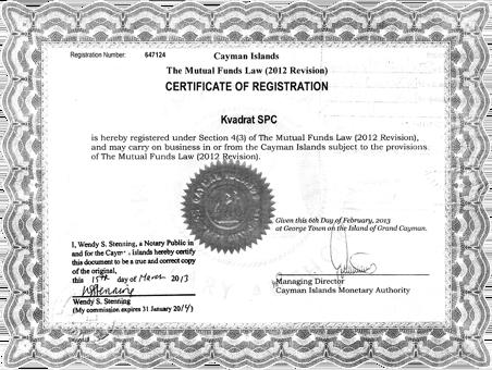 Kvadrat black sertificate