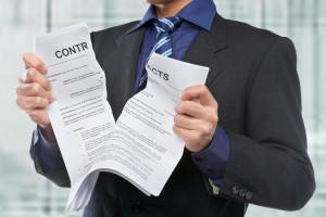 договор страхования нарушение условий