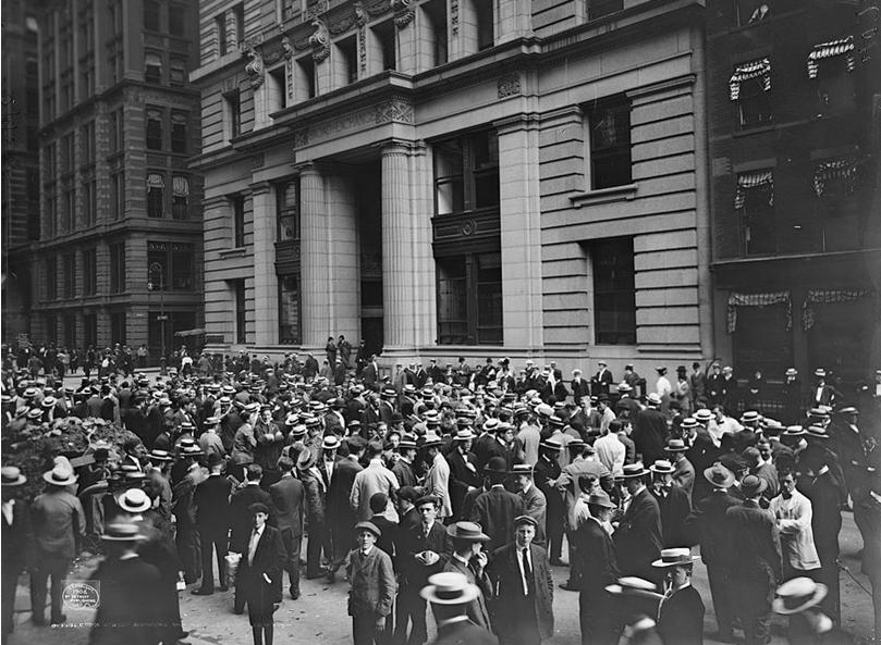 «Уличные» брокеры. Торговля акциями прямо на Уолл-стрит, 1906