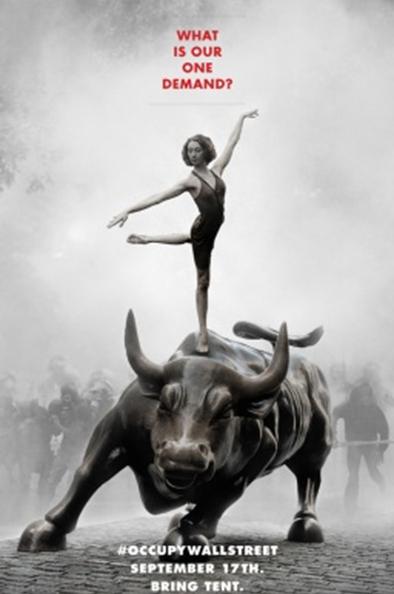 Плакат акции «Захвати Уолл-Стрит» с датой ее начала 17.09.2011