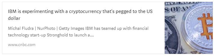 Покойся с миром, Tether? IBM изучает возможности создания собственной монеты