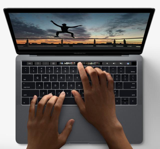 MacBook - вид сверху