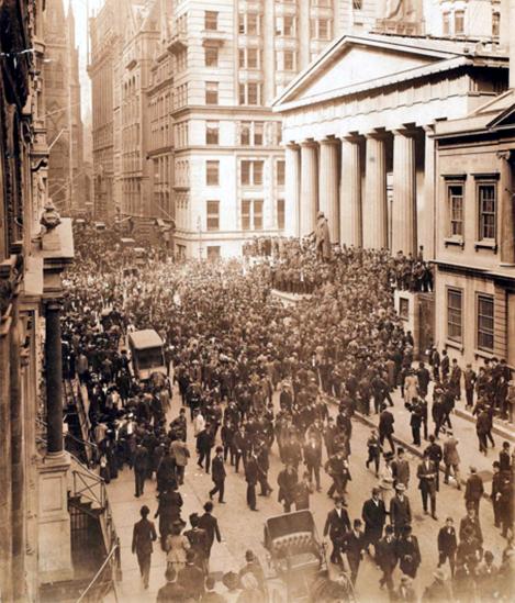Уолл-стрит, паника, октябрь 1907 года